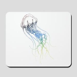 colorful jellyfish drawing Mousepad