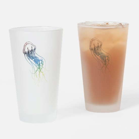 colorful jellyfish drawing Drinking Glass