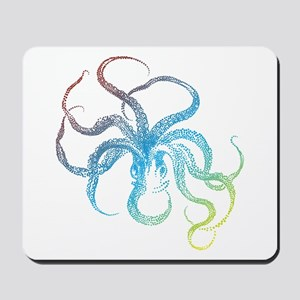 colorful octopus silhouette Mousepad
