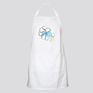 colorful octopus silhouette Apron
