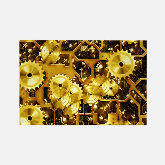 SteamClockwork-Brass Rectangle Magnet (10 pack)