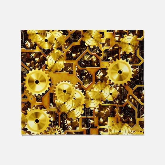 SteamClockwork-Brass Throw Blanket