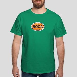 Boca Raton - Oval Design. Dark T-Shirt