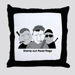 Stamp out Road Rage Throw Pillow