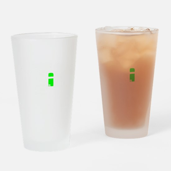 Theres No I In Team Inverted green logo Drinking G