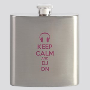 Keep Calm And DJ On Flask