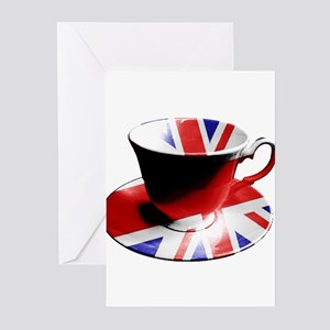 Union Jack Cup of Tea Greeting Cards (Pk of 20)