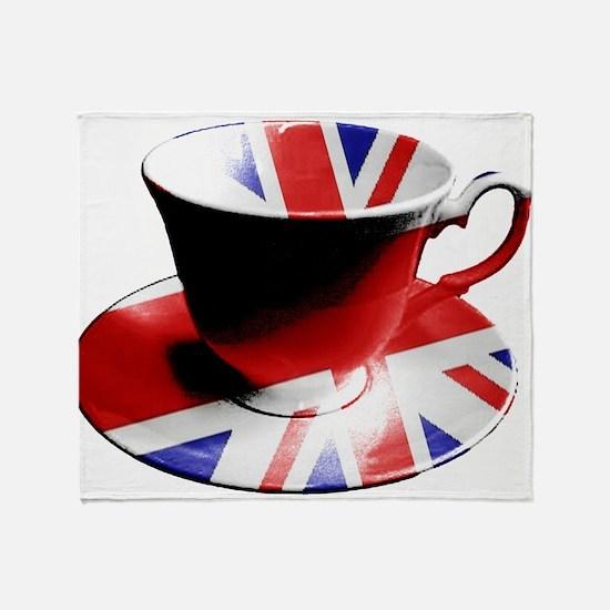Union Jack Cup of Tea Throw Blanket