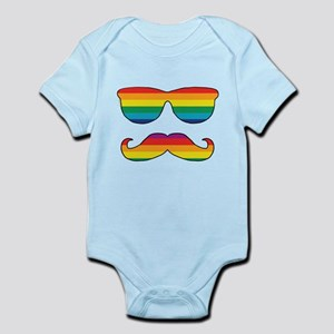 Rainbow Funny Face Infant Bodysuit