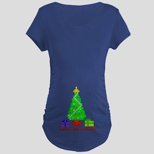 bit christmas maternity dark t-shirt (belly)