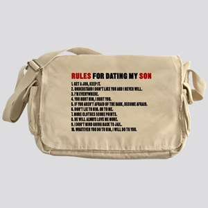 Rules For Dating My Son Messenger Bag