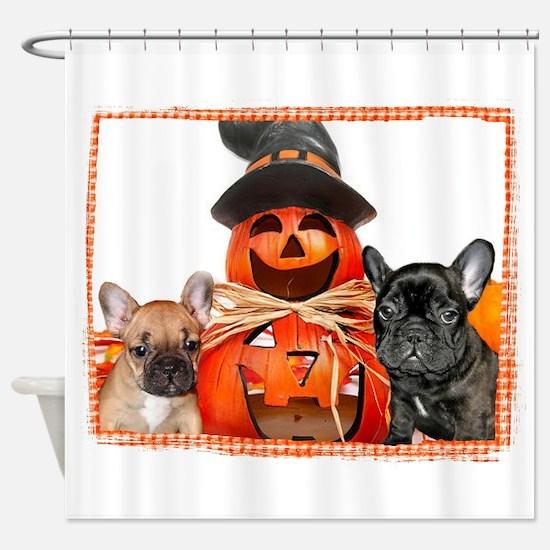 Halloween French Bulldogs Shower Curtain