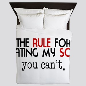 Rule For Dating My Son Queen Duvet