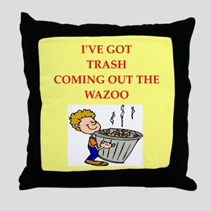 trash collectors Throw Pillow