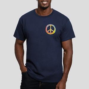 Tie-Dye Peace 713 Men's Fitted T-Shirt (dark)