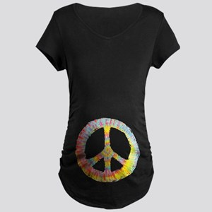 Tie-Dye Peace 713 Maternity Dark T-Shirt