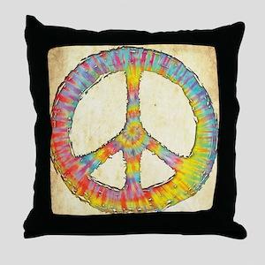 Tie-Dye Peace 713 Throw Pillow