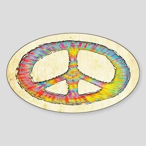 Tie-Dye Peace 713 Sticker (Oval)