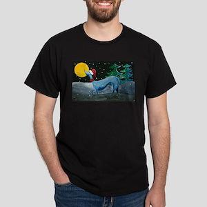 Christmas Italian Greyhound Dark T-Shirt