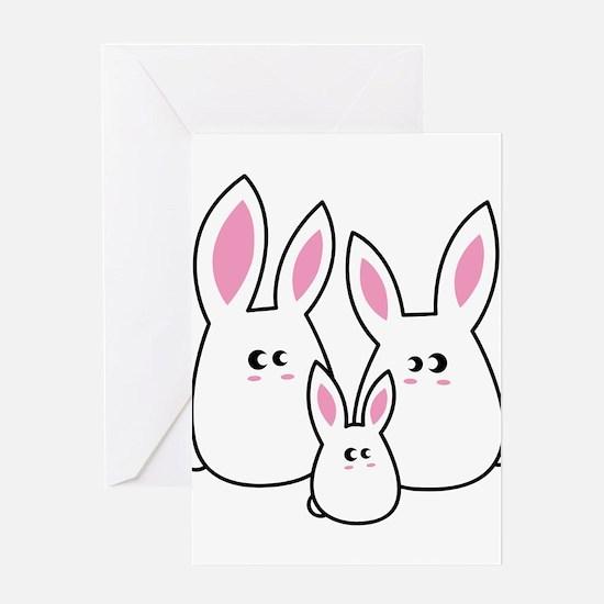 Trio of Rabbits Greeting Card