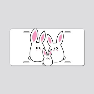 Trio of Rabbits Aluminum License Plate