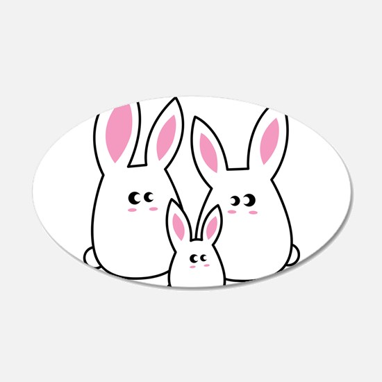 Trio of Rabbits Wall Decal