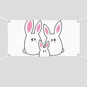 Trio of Rabbits Banner