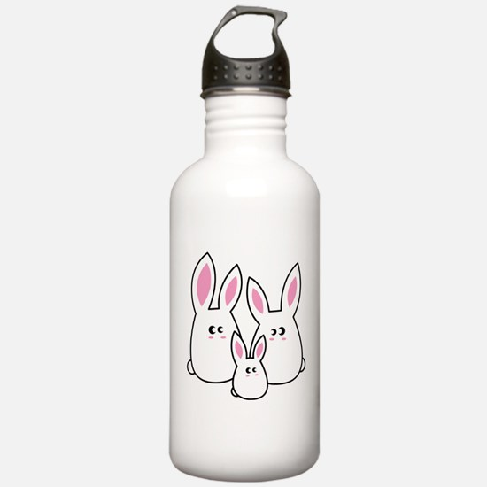 Trio of Rabbits Water Bottle