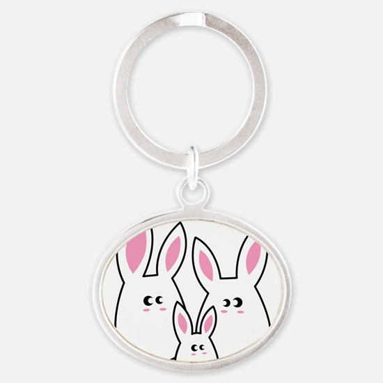 Trio of Rabbits Keychains