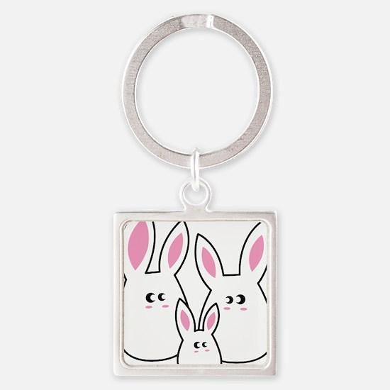 Trio of Rabbits Keychains