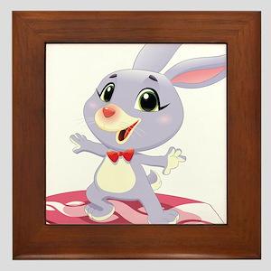 Surfing Rabbit Framed Tile
