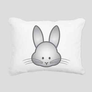 Gray Rabbit Rectangular Canvas Pillow