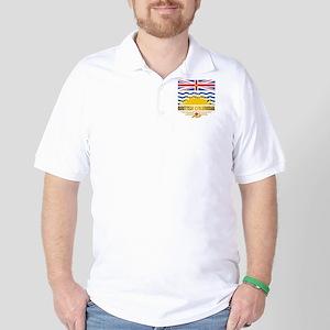 British Columbia Flag Golf Shirt