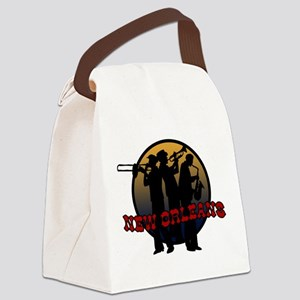 New Orleans Jazz Players Canvas Lunch Bag
