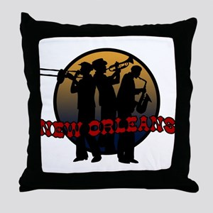 New Orleans Jazz Players Throw Pillow