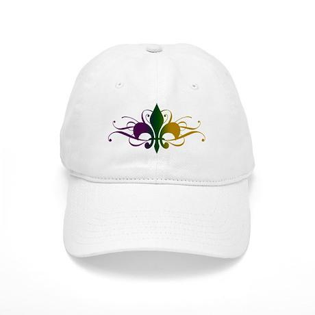 070de330570 Purple Green Gold Fleur De Lis Baseball Cap by unfortunateoccasions
