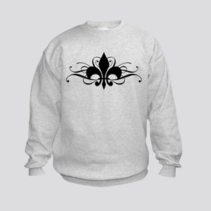 Fleur De Lis Kids Sweatshirt