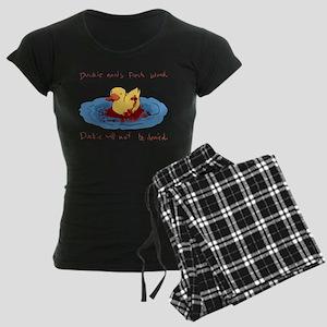 Duckie Needs Fresh Blood Women's Dark Pajamas