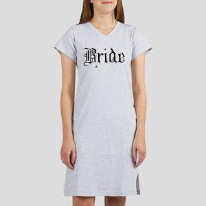 Gothic Text Bride Women's Nightshirt