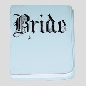 Gothic Text Bride baby blanket