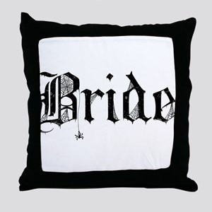 Gothic Text Bride Throw Pillow