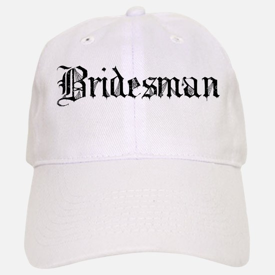 Gothic Text Bridesman Baseball Baseball Cap