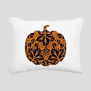Damask Pattern Pumpkin Rectangular Canvas Pillow