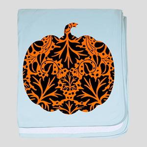 Damask Pattern Pumpkin baby blanket