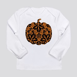 Damask Pattern Pumpkin Long Sleeve Infant T-Shirt