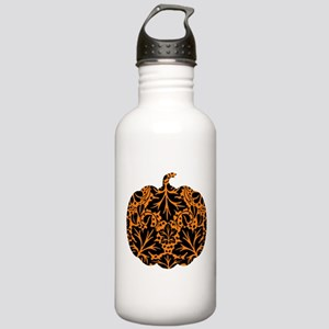 Damask Pattern Pumpkin Stainless Water Bottle 1.0L