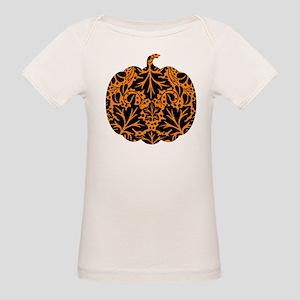 Damask Pattern Pumpkin Organic Baby T-Shirt