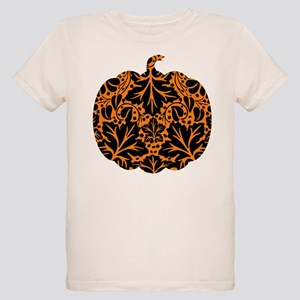 Damask Pattern Pumpkin Organic Kids T-Shirt