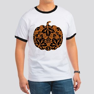 Damask Pattern Pumpkin Ringer T