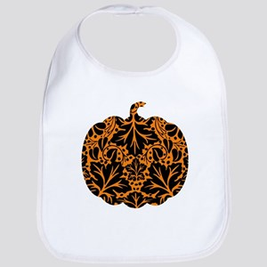Damask Pattern Pumpkin Bib